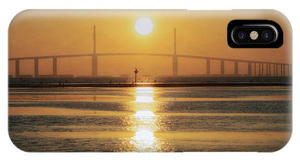 IPhone Case featuring the photograph Sunshine Skyway Bridge Sunrise by Steven Sparks