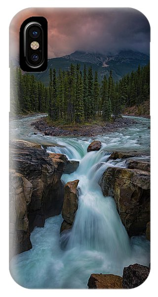 Flow iPhone Case - Sunwapta Falls by Michael Zheng