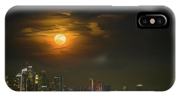 Downtown iPhone Case - Super Blue Bloody Moon by Eunice Kim