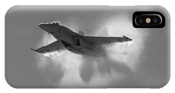 Super Hornet Shockwave Bw IPhone Case