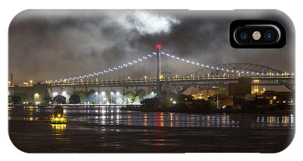 Super Moon And Triboro Bridge IPhone Case