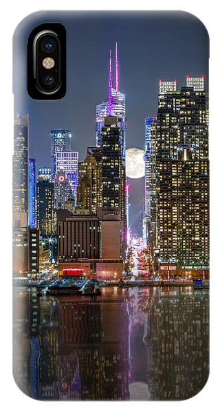 Super Moon At 42nd Street  IPhone Case