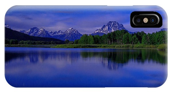 Teton iPhone Case - Super Moon by Chad Dutson