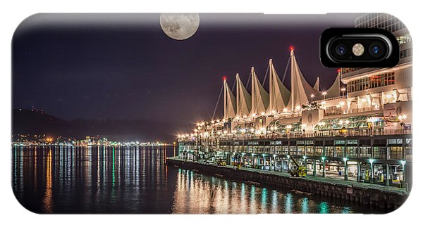 Super Moon Over Canada Place Vancouver - By Sabine Edrissi IPhone Case
