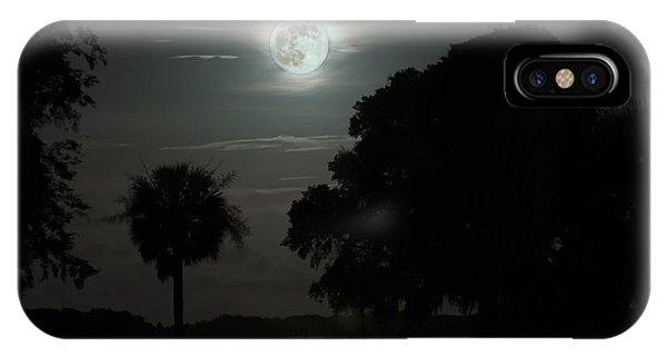 Super Moon Over Wimbee Creek IPhone Case