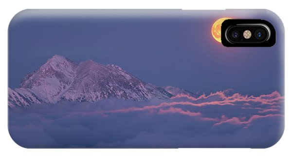 Red Sky iPhone X Case - Super Moon Rises by Ales Krivec