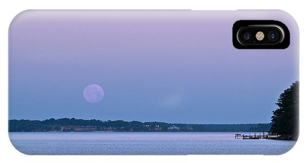 Super Moon Setting-1 IPhone Case