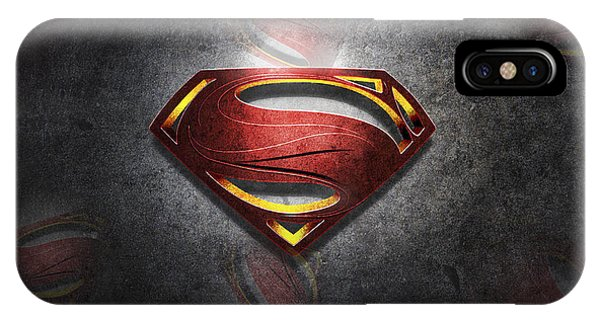 Superman Man Of Steel Digital Artwork IPhone Case