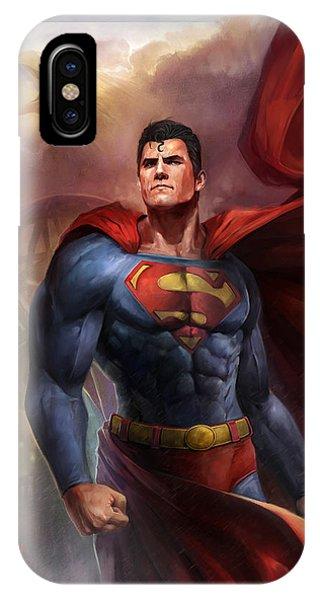 Comic iPhone Case - Man Of Steel by Steve Goad