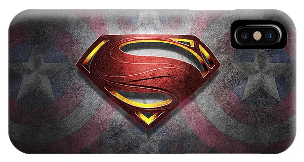 Superman Symbol Digital Artwork IPhone Case