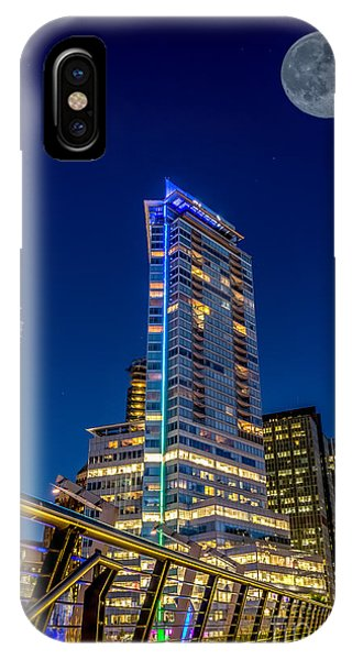 Supermoon Over Downtown Vancouver - By Sabine Edrissi IPhone Case