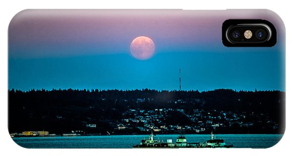 Supermoon Rises Over Puget Sound 2 IPhone Case