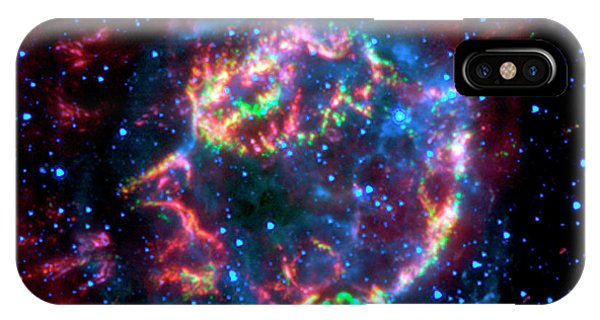 Infrared Radiation iPhone Case - Supernova Remnant Cassiopeia A by Nasa/jpl-caltech/science Photo Library