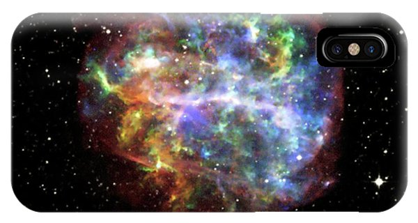 0 iPhone Case - Supernova Remnant G292.0+1.8 by Nasa/cxc/penn State/s. Park Et Al/pal Obs Dss/science Photo Library