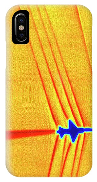 Flow Visualization iPhone Case - Supersonic Shock Waves by Nasa