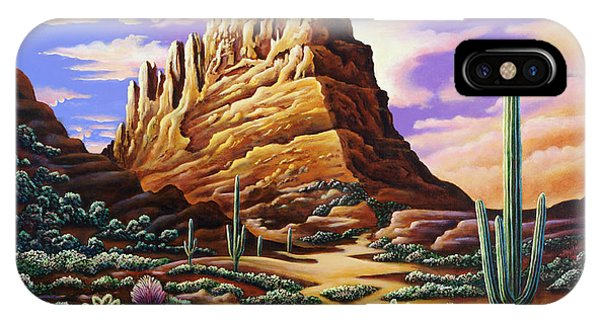 Superstition Mountains IPhone Case