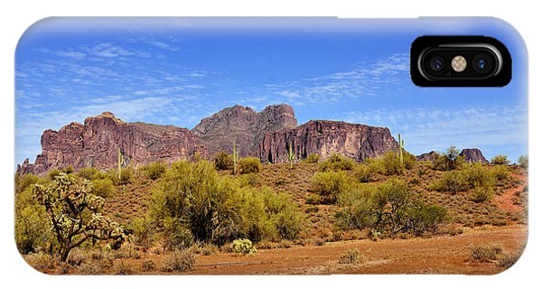 Indian Peaks Wilderness iPhone Case - Superstition Mountains Arizona - Flat Iron Peak by Christine Till