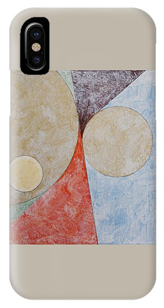 IPhone Case featuring the painting Suprematist Composition No 2 With A Circle by Ben Gertsberg