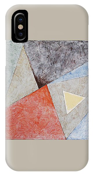IPhone Case featuring the painting Suprematist Composition No 4 With A Triangle by Ben Gertsberg