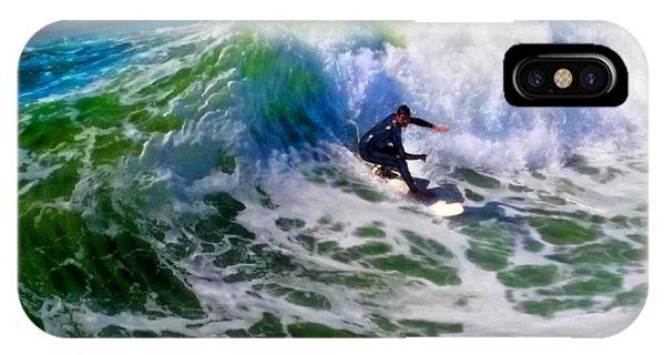 Surf 2 Bottom Turn IPhone Case
