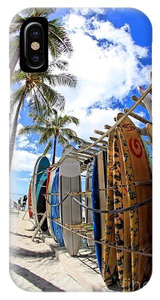 Surf And Sun Waikiki IPhone Case