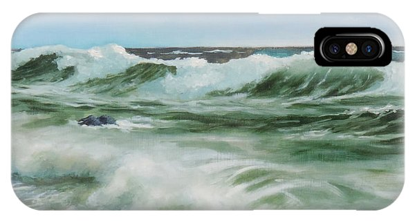 Surf At Castlerock IPhone Case
