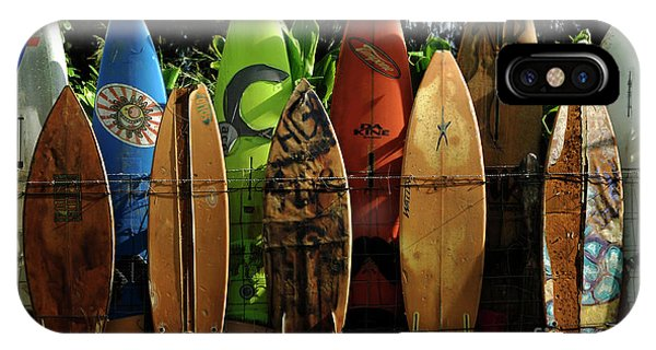 Oahu Hawaii iPhone Case - Surfboard Fence 4 by Bob Christopher