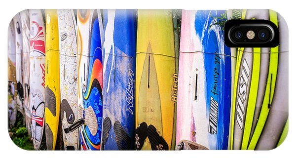 Fielding iPhone Case - Surfboard Fence Maui Hawaii by Edward Fielding