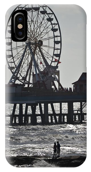 Surfer And Lovers At Pleasure Pier IPhone Case