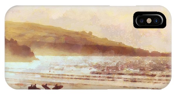 Surf iPhone Case - Surfer Dawn by Pixel Chimp