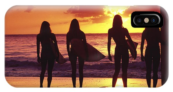Oahu iPhone Case - Surfer Girl Silhouettes by Sean Davey