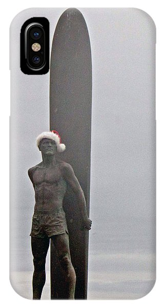 Surfer Santa  IPhone Case