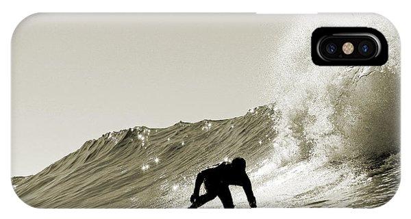Surfer Sepia Silhouette IPhone Case