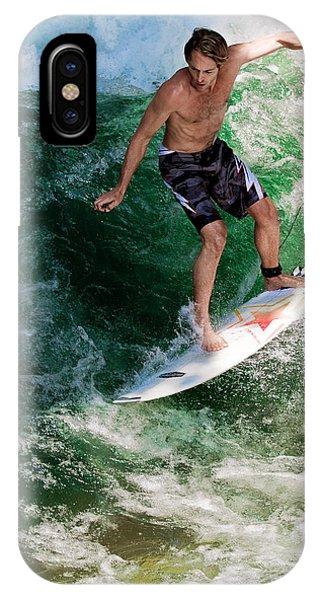 Action iPhone X Case - Surfin` by Rafael Scheidle