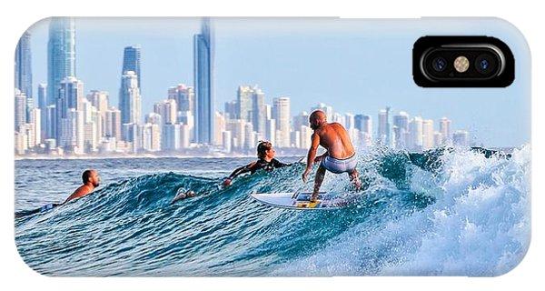 Surfing Burleigh IPhone Case