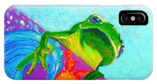 Surfing Froggie IPhone Case