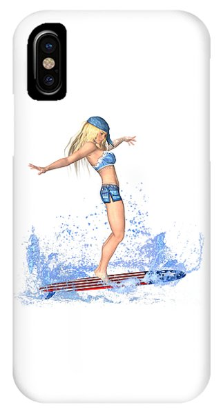 Luxmaris iPhone Case - Surfing Girl by Renate Janssen