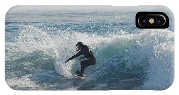 Santa Cruz Surfing iPhone Case - Surfing In The Sun by Donna Blackhall
