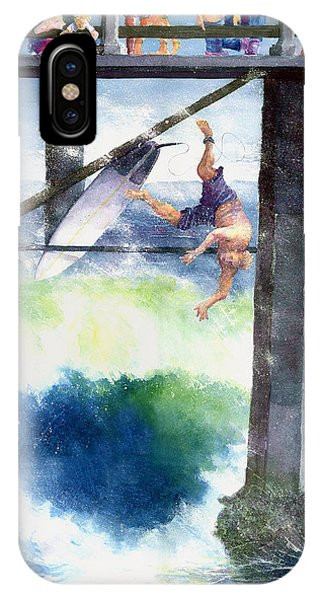 Surfing No.4 Phone Case by Jim Bates