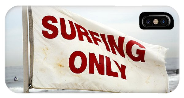 Surfing Only Phone Case by John Rizzuto