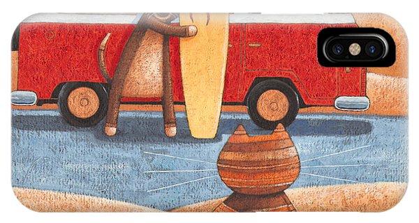 Caravan iPhone Case - Surfing Showdown by MGL Meiklejohn Graphics Licensing