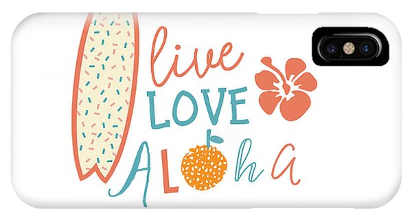 Surfboard iPhone Case - Surfing Summer Emblem With Text Quote by Tasiania