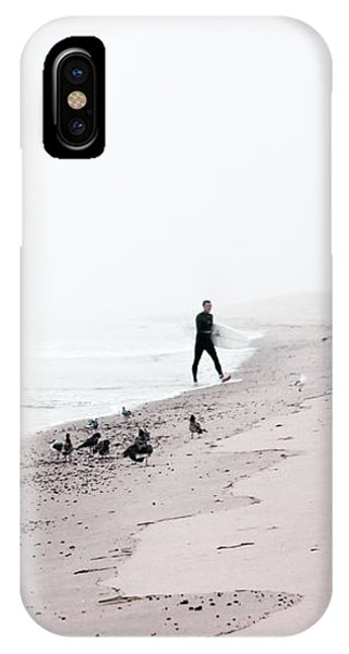 Surfing Where The Ocean Meets The Sky IPhone Case