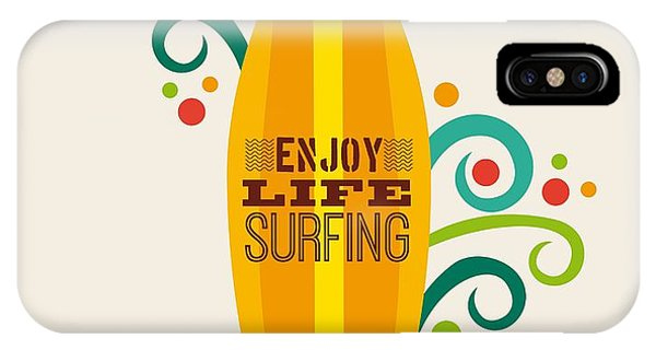 Surfboard iPhone Case - Surfing Zone Graphic Design , Vector by Gst