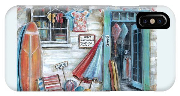 Beach Chair iPhone Case - Surfs Up Beach Shop by Marilyn Dunlap