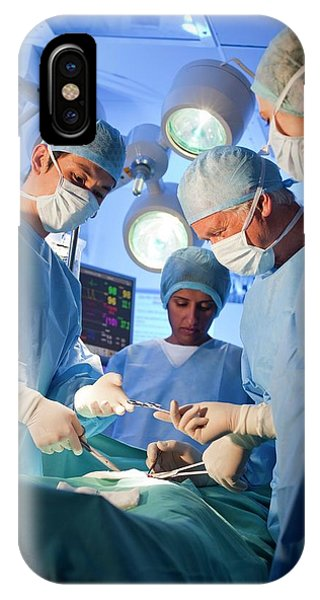 Staff iPhone Case - Surgery by Science Photo Library