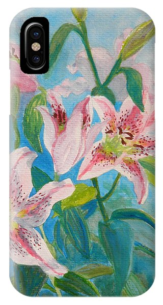Surprise Star Lillies IPhone Case
