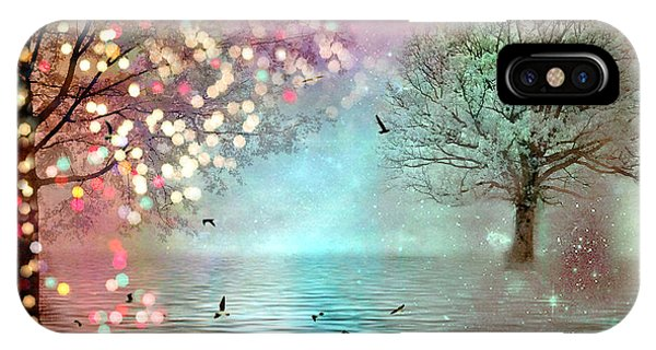 Fairytale Fantasy Trees Surreal Dreamy Twinkling Sparkling Fantasy Nature Trees Home Decor IPhone Case