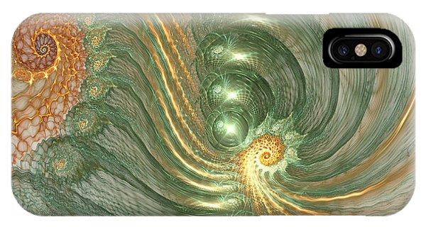 Fractal Landscape iPhone Case - Surreal Field by Martin Capek