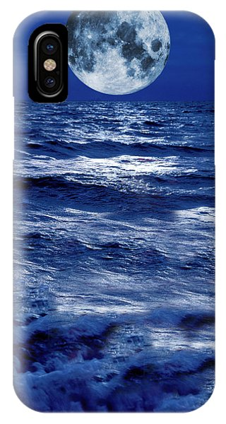 Surreal Moon Rise Over Stormy Waters IPhone Case
